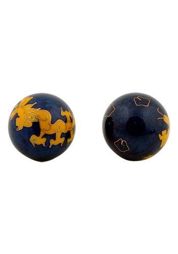 Yogi & Yogini naturals Meridiaankogels Gele draak (4 cm)