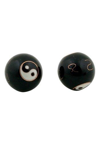 Yogi & Yogini naturals Meridiaankogels Yin Yang zwart (3,5 cm)