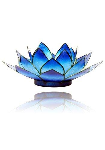 Yogi & Yogini naturals Lotus sfeerlicht blauw 2-kleurig (Ø 13.5 cm)