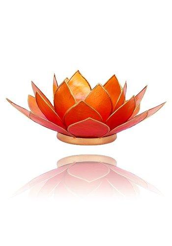 Yogi & Yogini naturals Lotus sfeerlicht 2-kleurig roze-oranje (Ø 13.5 cm)