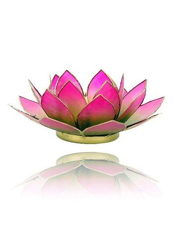 Yogi & Yogini naturals Lotus sfeerlicht groen/roze 2-kleurig (Ø 13.5 cm)