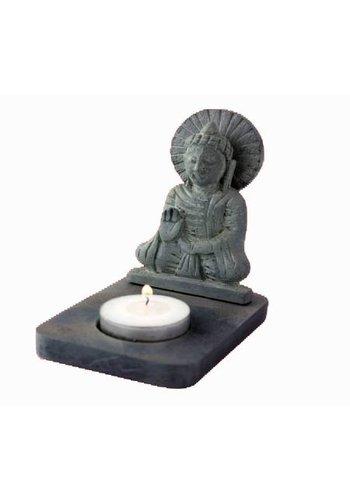 Yogi & Yogini naturals Sfeerlicht Boeddha waxinelichthouder (11 cm)