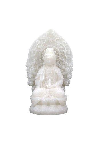 Yogi & Yogini naturals Quan Yin beeldje wit (±12 cm)