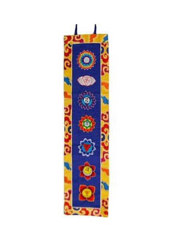 Yogi & Yogini naturals Chakra banier borduurwerk met brokaat