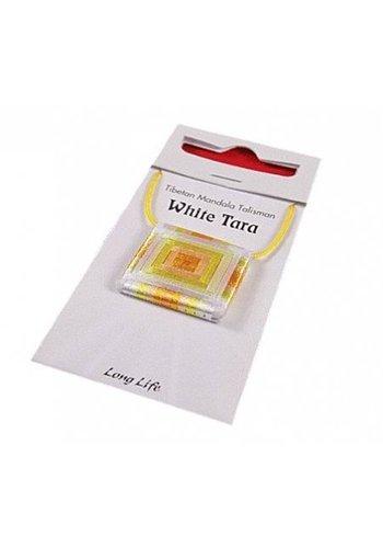 Yogi & Yogini naturals Mandala Talisman hanger White Tara Long Life (2,5x2,5 cm)
