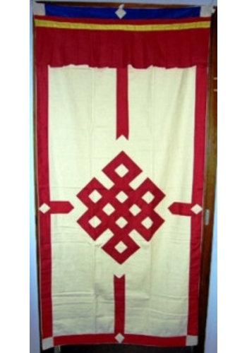 Yogi & Yogini naturals Tibetaans deurkleed rood/ecru (178x85 cm)