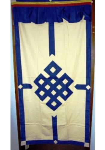 Yogi & Yogini naturals Tibetaans deurkleed blauw/ecru (178x85 cm)