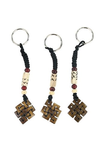 Yogi & Yogini naturals Sleutelhanger Endless knot bruin