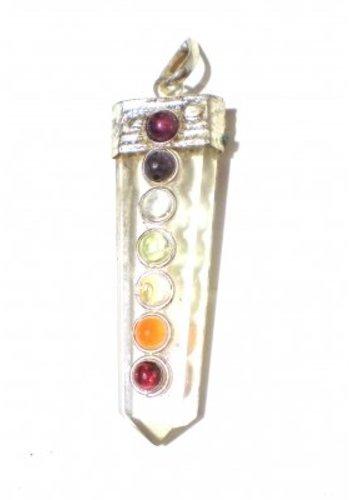 Yogi & Yogini naturals Chakra hanger bergkristal met 7 halfedelstenen