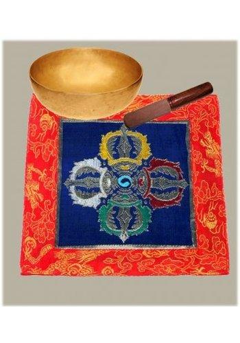 Yogi & Yogini naturals Tempelkleedje Tibetaans Dubbele Dorje brokaat