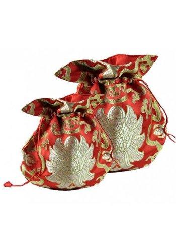Yogi & Yogini naturals Brokaattasje lotus rood