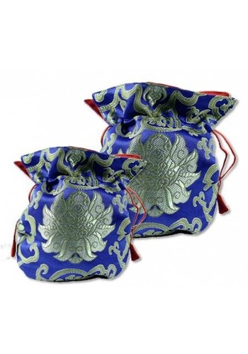 Yogi & Yogini naturals Brokaattasje lotus blauw