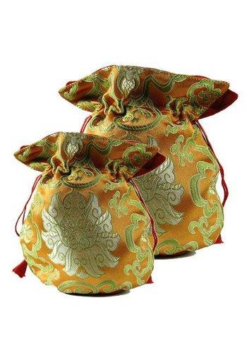 Yogi & Yogini naturals Brokaattasje lotus oranje