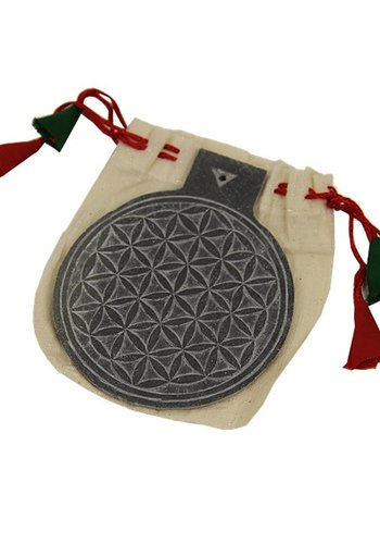Yogi & Yogini naturals Leisteen reliëf flower of life