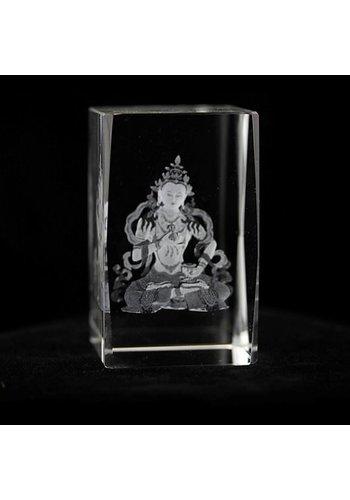 Yogi & Yogini naturals Kristal laser Vajrasattva Boeddha AA (5x8 cm)