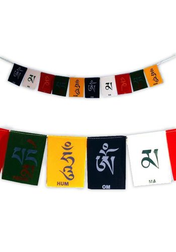 Yogi & Yogini naturals Gebedsvlaggen OMPMH met 10 luxe velours