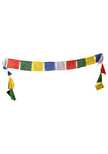 Yogi & Yogini naturals Gebedsvlaggen koord Tibetaans met 10 vlaggen