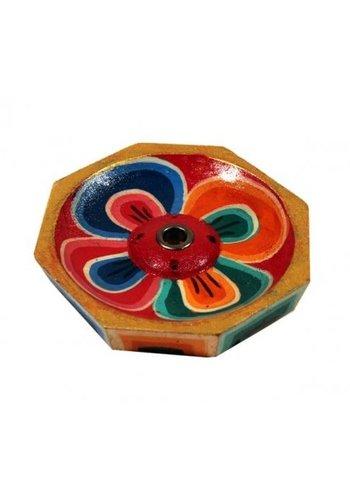 Yogi & Yogini naturals Wierookbrander Lotus gelakt hout kleiner (6 cm)