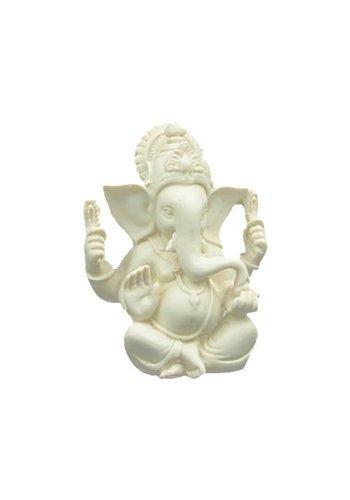 Yogi & Yogini naturals Ganesh beeld wit