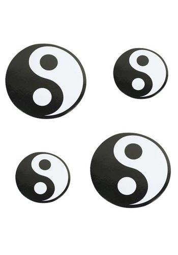 Yogi & Yogini naturals Sticker Yin Yang zwart (11 cm)