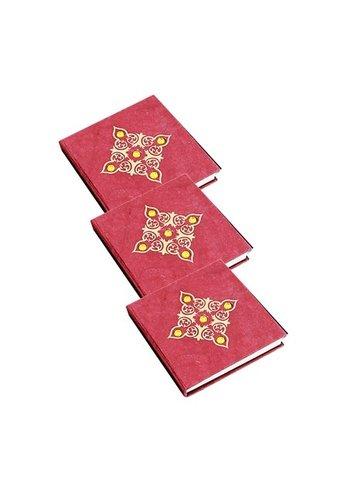 Yogi & Yogini naturals Notitieboek rood met steentjes, small