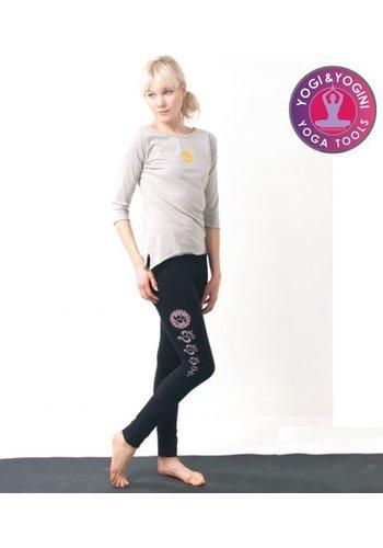 Yogi & Yogini naturals Yoga-legging 'Asana' katoen zwart (S/M/L)