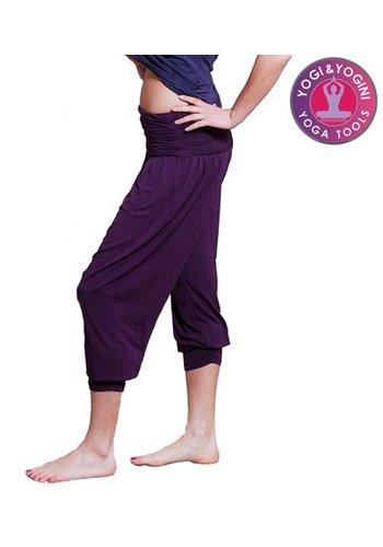 Yogi & Yogini naturals Yogabroek comfort flow paars S-M