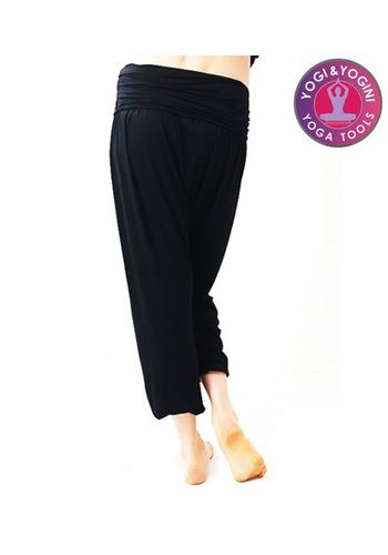 Yogi & Yogini naturals Yogabroek comfort flow zwart M-L