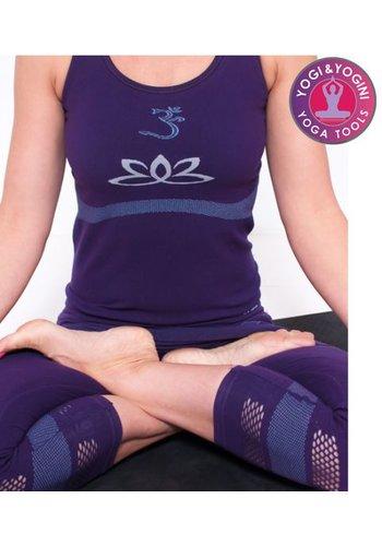 Yogi & Yogini naturals Yoga top lotus naadloos paars S-M