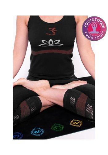 Yogi & Yogini naturals Yoga top lotus naadloos zwart M-L