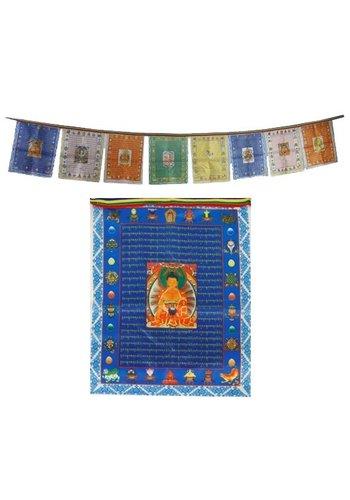 Yogi & Yogini naturals Gebedsvlaggen Boeddha's (28x35 cm)
