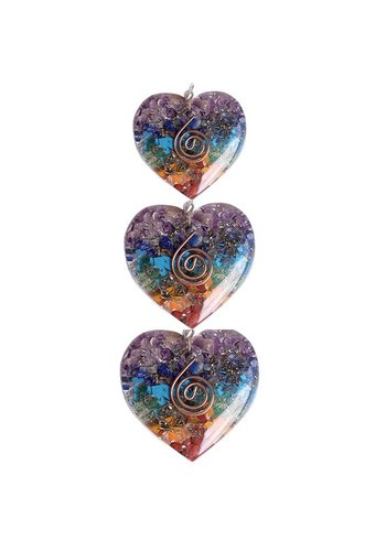 Yogi & Yogini naturals Orgon hanger hartvormig in meerdere kleuren (4x4.2 cm)