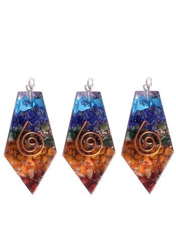 Yogi & Yogini naturals Orgon hanger vijfhoekig in meerdere kleuren (5x2.5 cm)