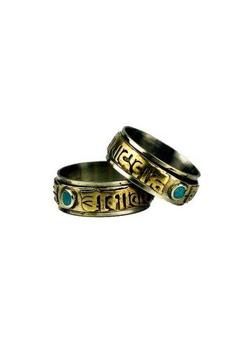 Yogi & Yogini naturals Spinning Ring Om Mani Pad Me Hum maat 9
