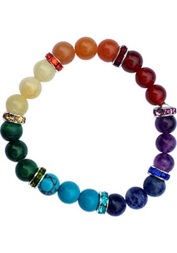 Yogi & Yogini naturals Armband 7 chakra's elastisch