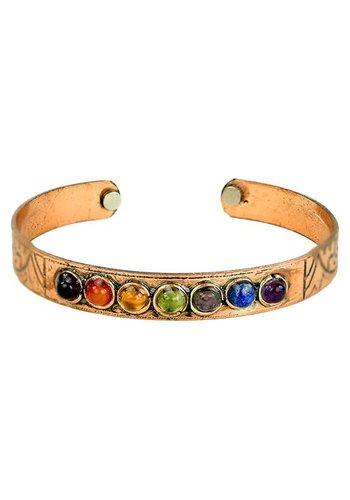Yogi & Yogini naturals Armband magnetisch koper chakra's