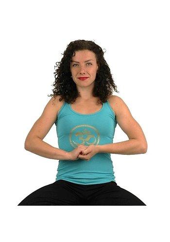Yogi & Yogini naturals Yoga top 'Ohm' turquiose (S)