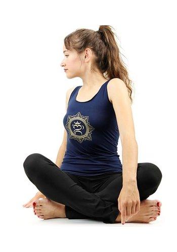 Yogi & Yogini naturals Yoga top 'Ohm bali' navy L