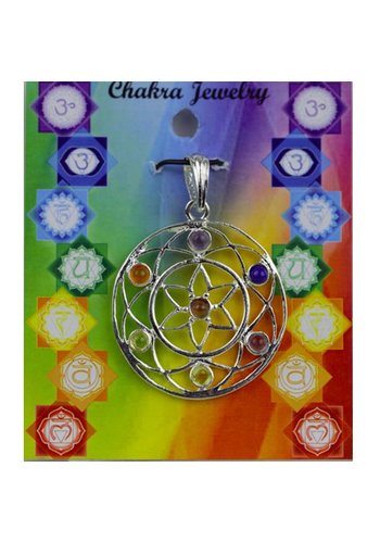 Yogi & Yogini naturals Chakra mandala hanger messing verzilverd