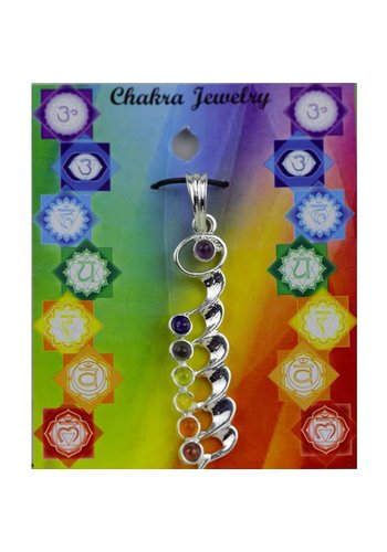 Yogi & Yogini naturals Kundalini chakra hanger messing verzilverd