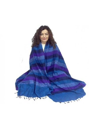 Yogi & Yogini naturals Meditatiedeken XL blauw/violet (115x245 cm)