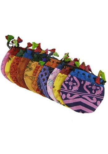 Yogi & Yogini naturals Vintage zijden tasje gemengde kleuren
