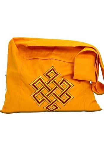 Yogi & Yogini naturals Lama tas oranje met oneindigheidsknoop
