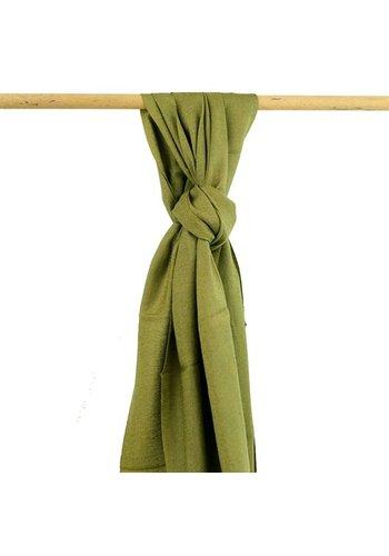 Yogi & Yogini naturals Sjaal olijfgroen (70x200 cm)