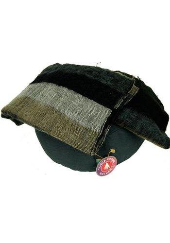 Yogi & Yogini naturals Meditatie omslagdoek zwart met strepen (200x80 cm)