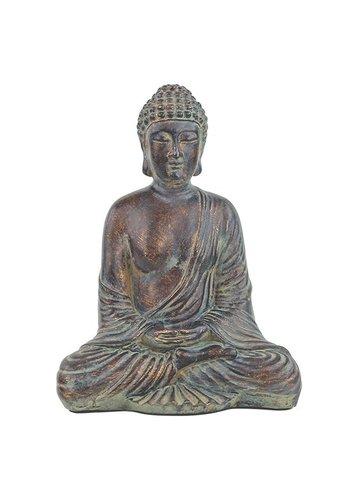 Yogi & Yogini naturals Zittende Boeddha (16x10x20 cm)