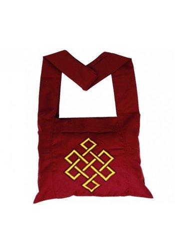 Yogi & Yogini naturals Lama tas rood met gele oneindigheidsknoop (40x36x86 cm)