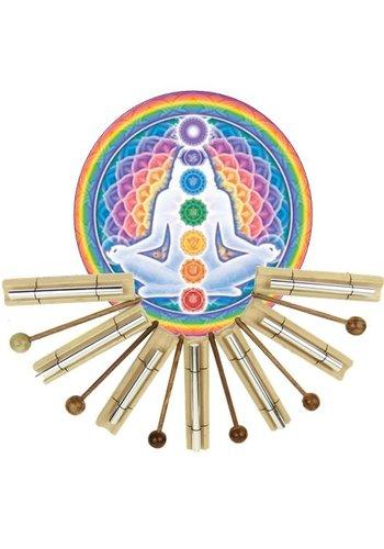 Yogi & Yogini naturals Klankstaven set Chakra Healing op toon gebaseerd