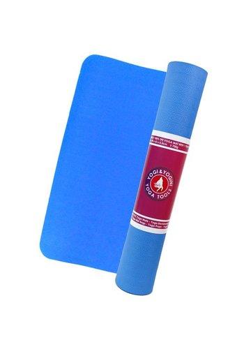 Yogi & Yogini naturals TPE yogamat blauw (183x63x0.5 cm)