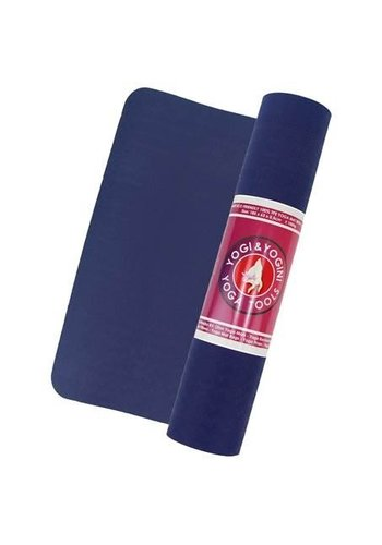 Yogi & Yogini naturals TPE yogamat indigo/grijs (183x63x0.5 cm)